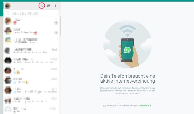 Whatsapp Statusmeldung Ab Sofort Auch In Der Web Version