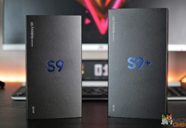 Samsung Galaxy S9 und S9 Plus Verpackung