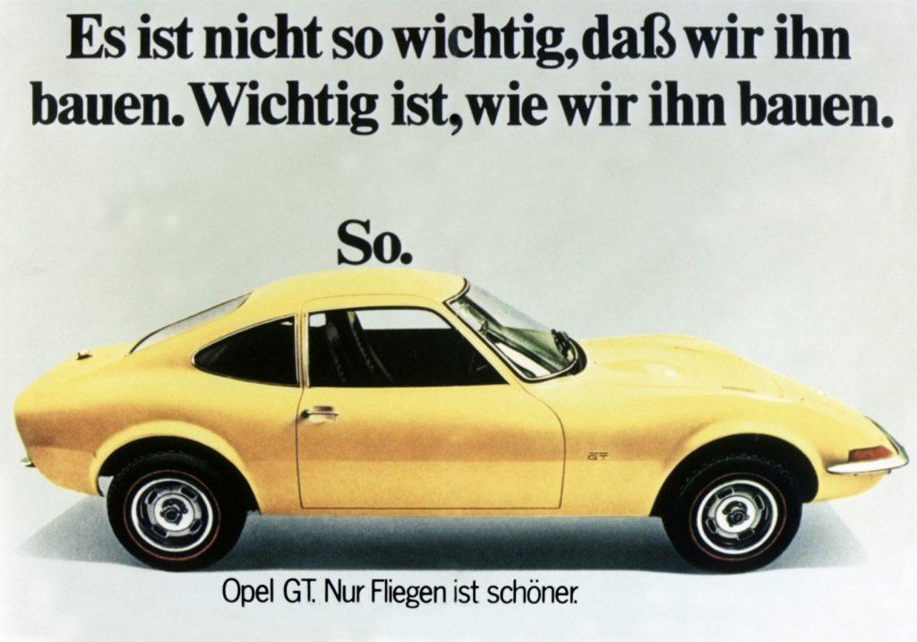 Opel GT Werbung