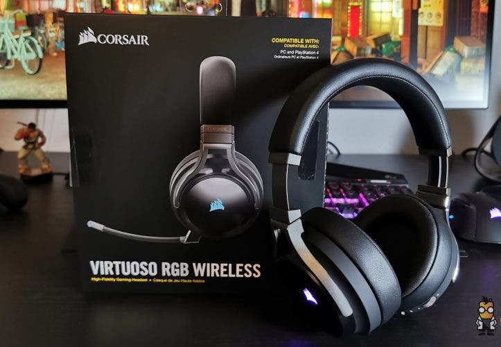 Corsair Virtuoso RGB Wireless Test Gaming Kopfhörer Headset Mobilegeeks