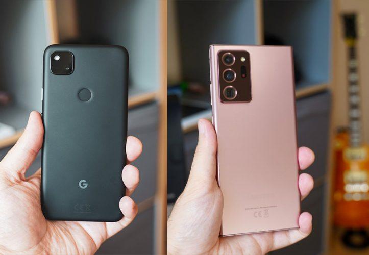 Google Pixel 4a Samsung Galaxy Note 20 Ultra 5G Test Review Mobilegeeks