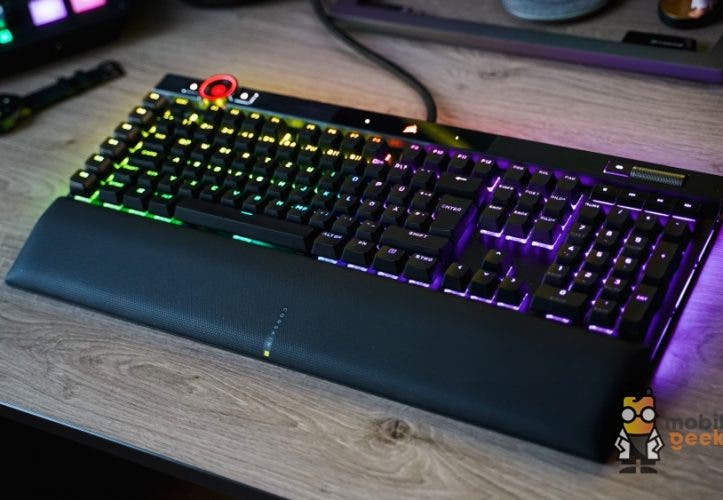 Corsair K100 RGB Gaming Tastatur Test Review Mobilegeeks