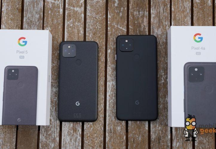 Google Pixel 5 und Google Pixel 4a 5G Smartphone Test Review Mobilegeeks